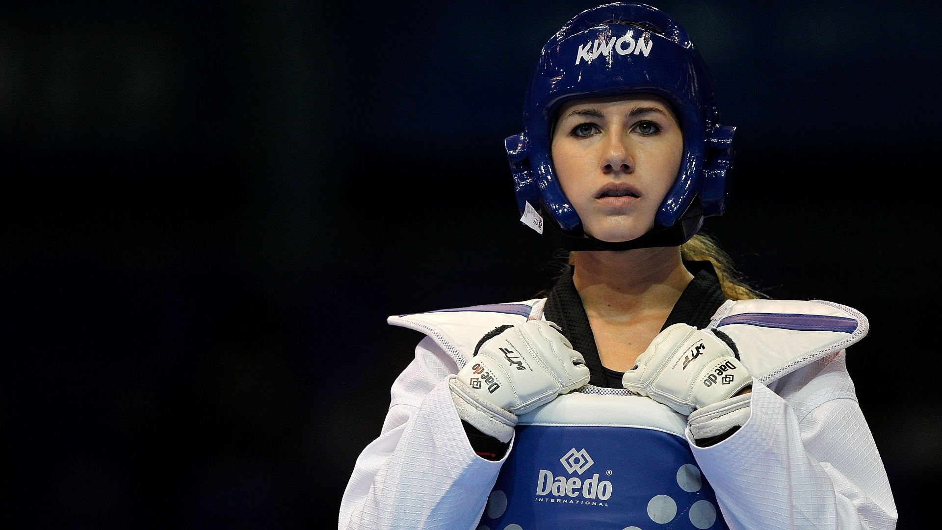 Norte-americana Nicole Palma compete no taekwondo no segundo dia do Pan de Guadalajara