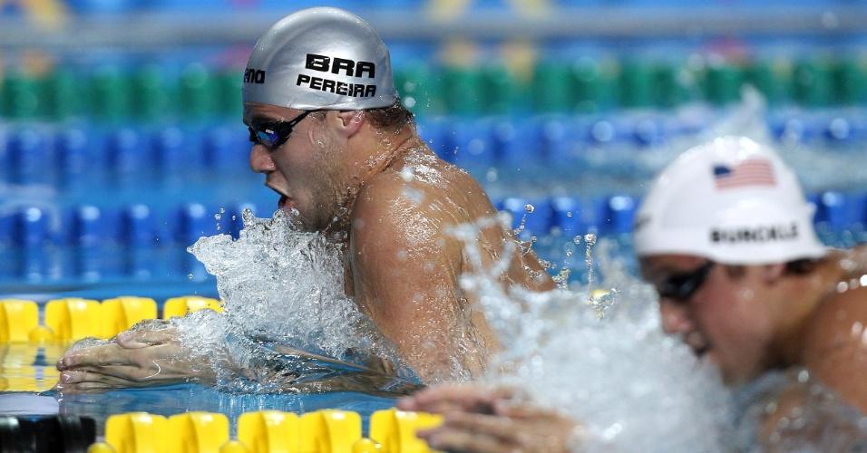 Thiago Pereira garantiu lugar na final dos 200 m peito com o quarto melhor tempo (18/10/2011)