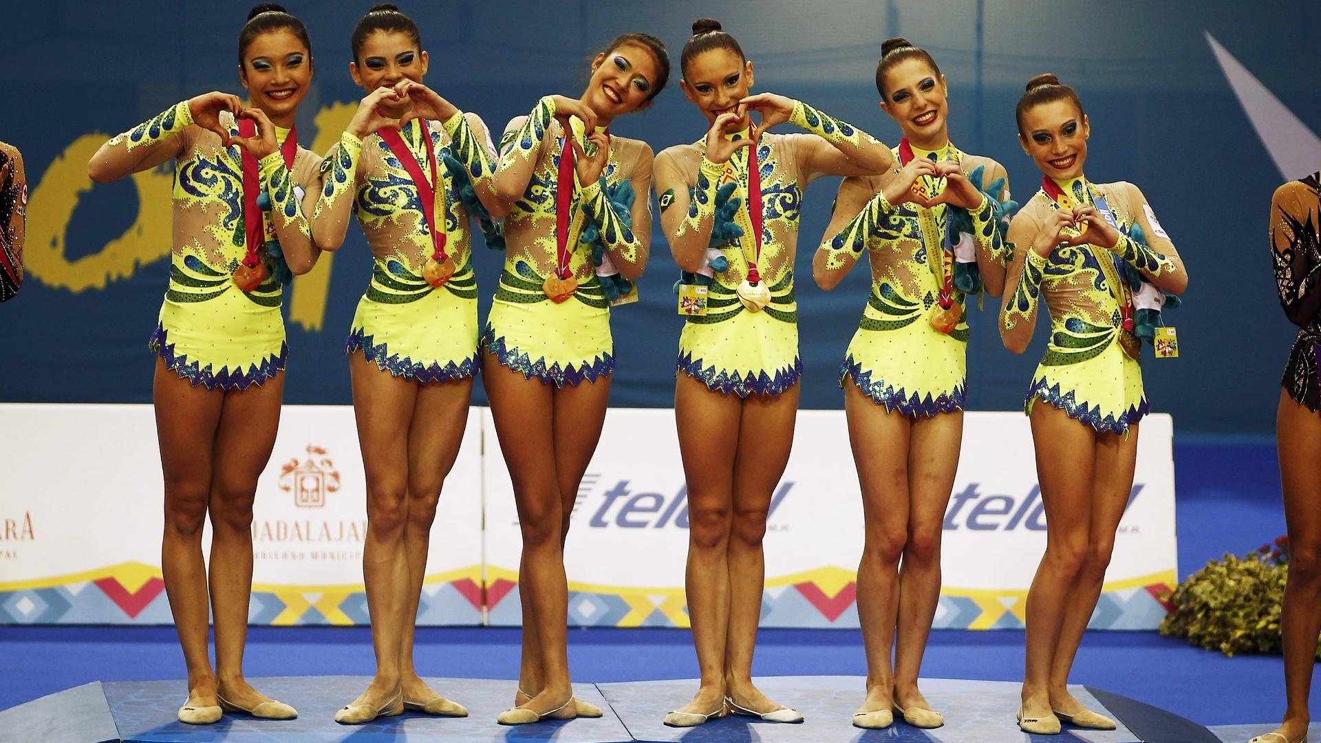 A equipe da ginástica rítmica brasileira apostou no