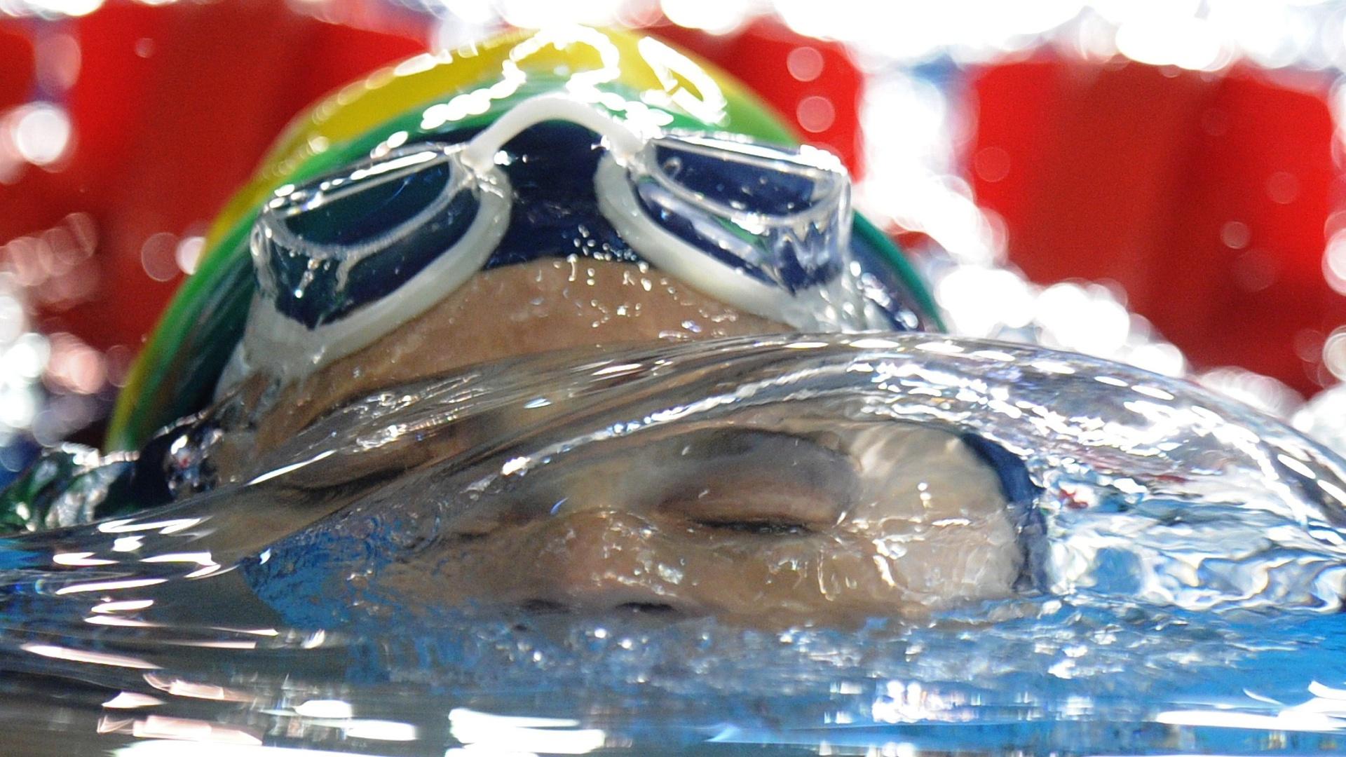 A nadadora Tatiana Lemos conseguiu a classificação para a final dos 100 m (19/10/2011)