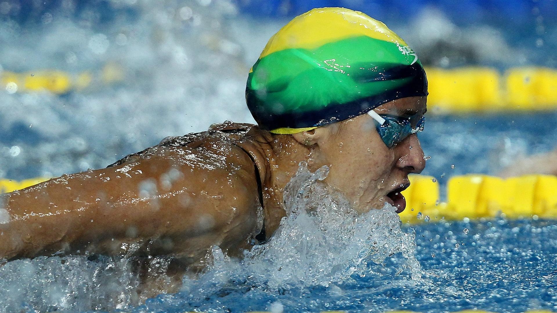 Joanna Maranhão nadou nas eliminatórias dos 200 m borboleta (19/10/2011)