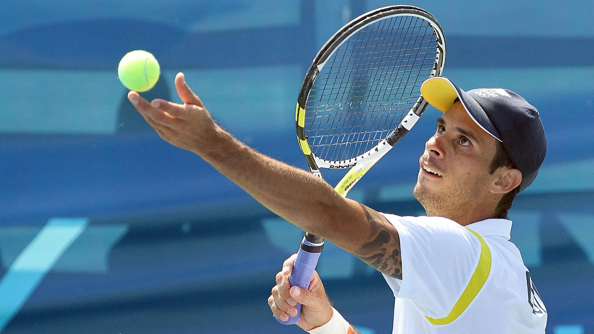Rogério Dutra bateu o Norte Americano Greg Ouellette por 2 sets a 0 pela terceira rodada do tênis individual em Guadalajara