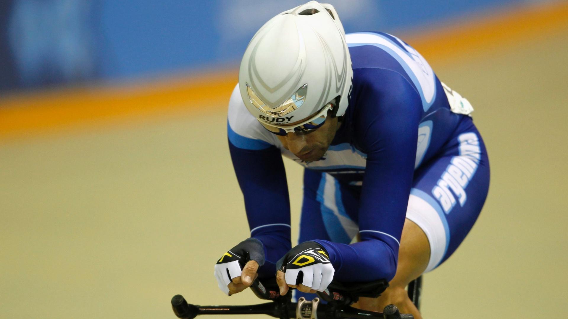 Walter Perez, ciclista da Argentina, compete nos Jogos Pan-Americanos de Guadalajara