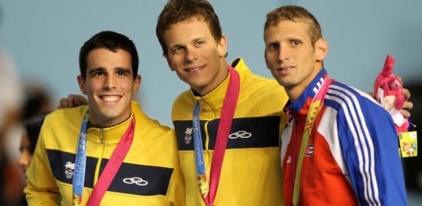 Bruno Fratus e Cesar Cielo ficaram com a prata e o ouro nos 50 m livre no México