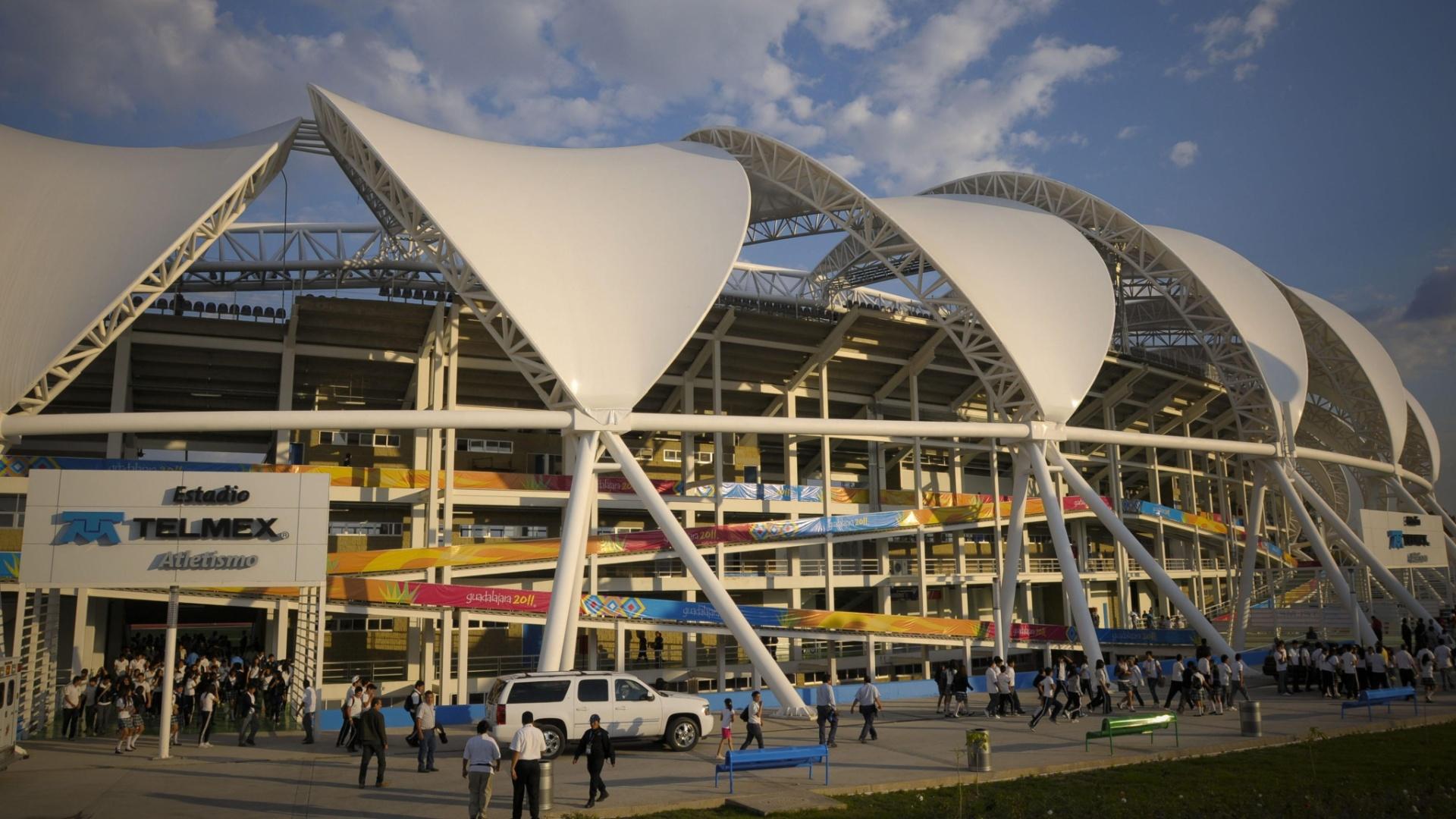 Estádio de atletismo do Pan de Guadalajara é inaugurado a quatro dias do início da disputas das provas da modalidade
