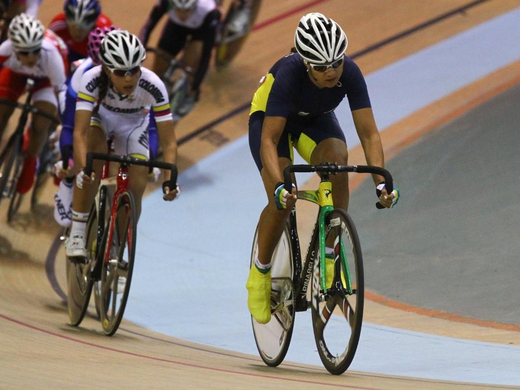Janildes Fernandes disputou o ciclismo na categoria omnium, mas saiu de Guadalajara sem medalha (20/10/2011)