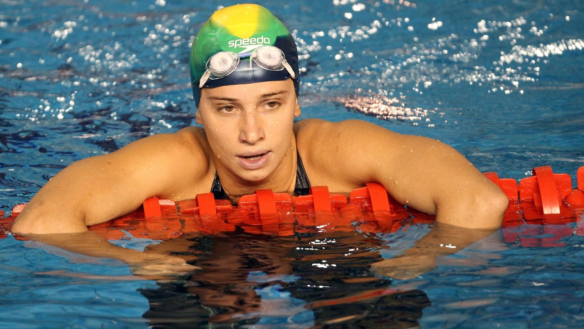 Nos 200 m peito, Thamy Ventorini não conseguiu a classificação para a final (20/10/2011)