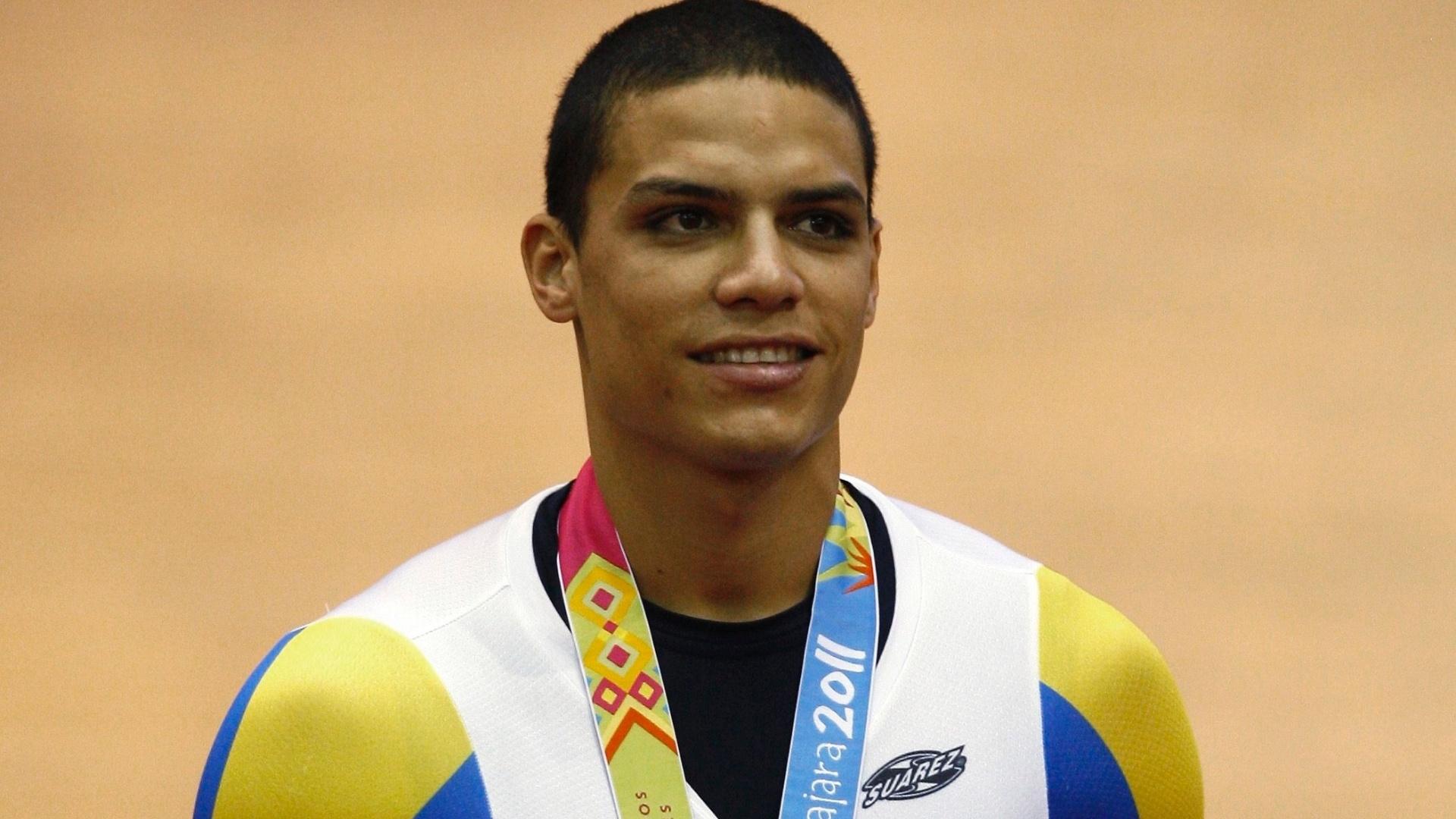 Hersony Canelon, da Venezuela, conquistou a medalha de prata no ciclismo do Pan de Guadalajara