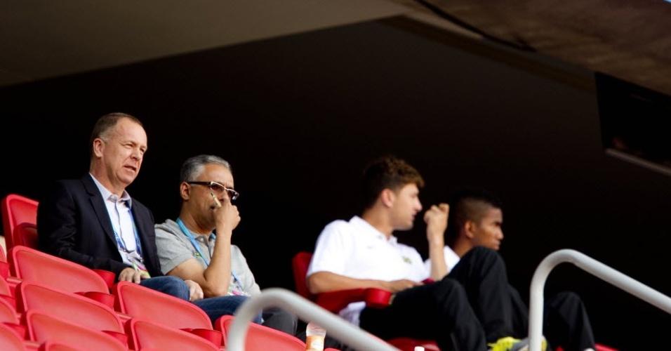 Mano Menezes acompanha a seleção brasileira no Pan, em partida contra Cuba