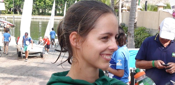 Patricia Freitas, na classe RS-X, já garantiu o ouro com um dia de antecipação na vela