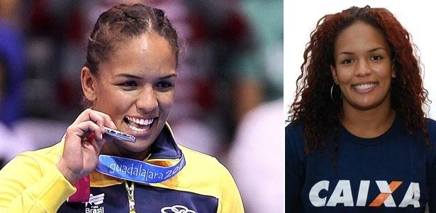 Aline Ferreira com seu cabelo de luta e os cachos dos dias normais (23/10/2011)