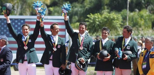 Brasileiros do CCE (Conjunto Completo de Equitação) conquistaram a medalha de bronze