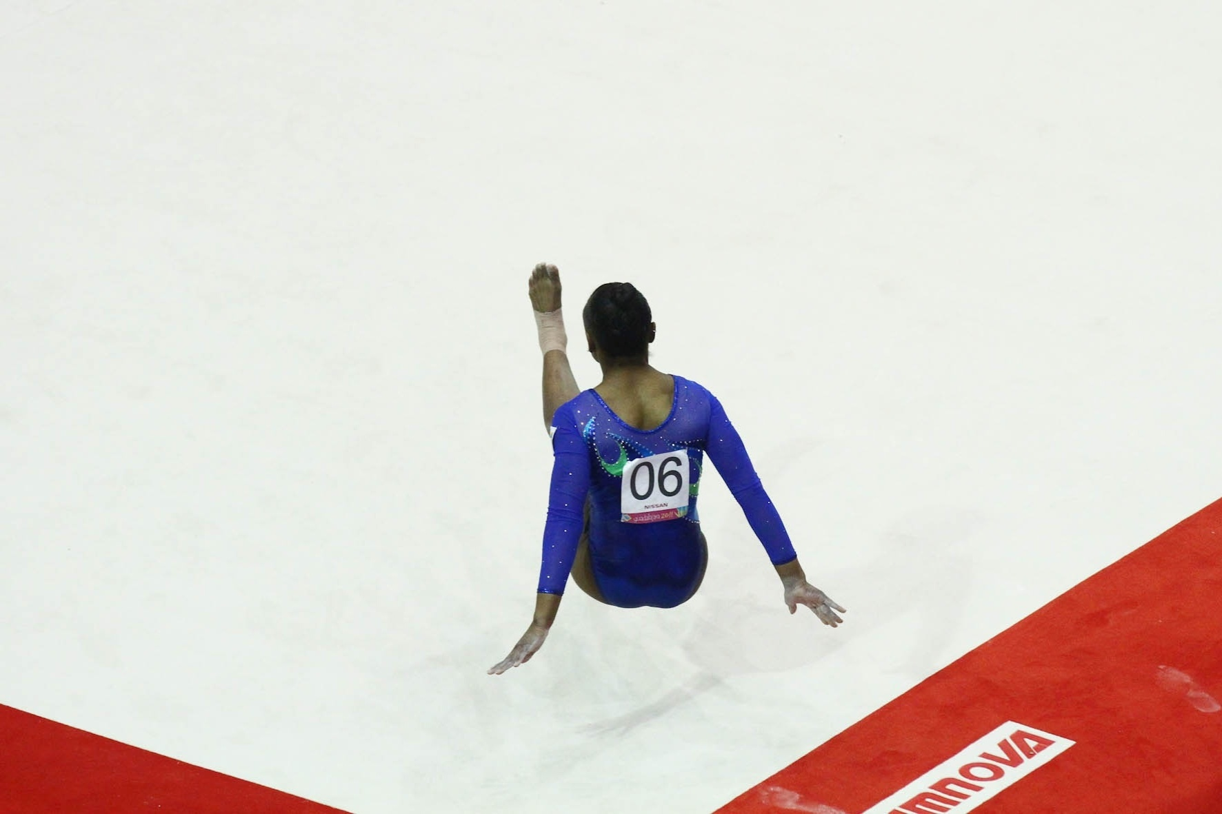 Daiane dos Santos participa da prova de solo da competição por equipes da ginástica artística do Pan