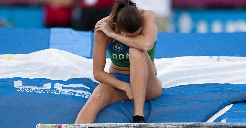 Fabiana Murer lamenta erro na prova do salto com vara, em que falhou em defender seu ouro de 2007 e ficou com o vice em Guadalajara