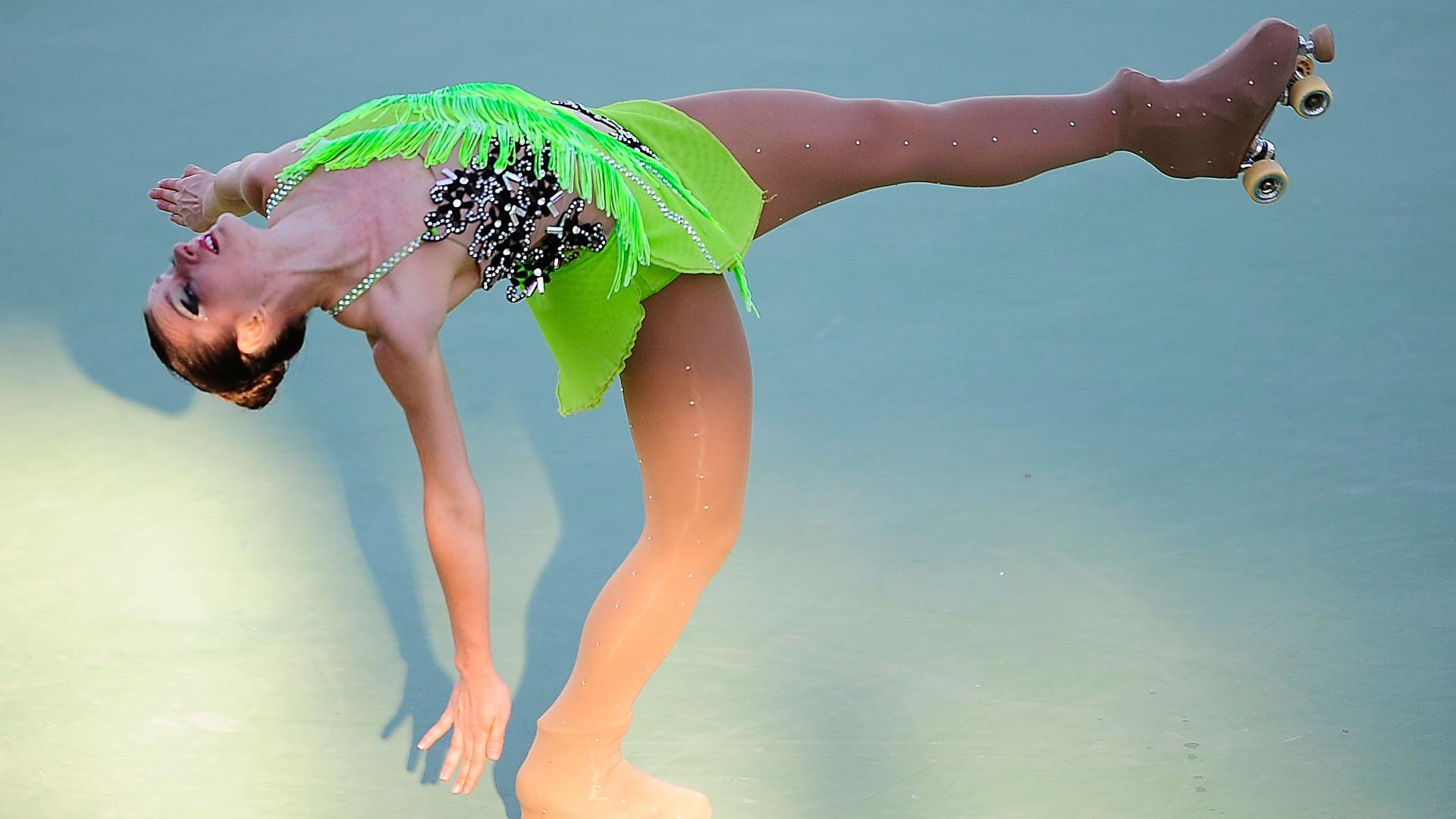 Talitha Haas conquista a medalha de bronze na patinação artística feminina
