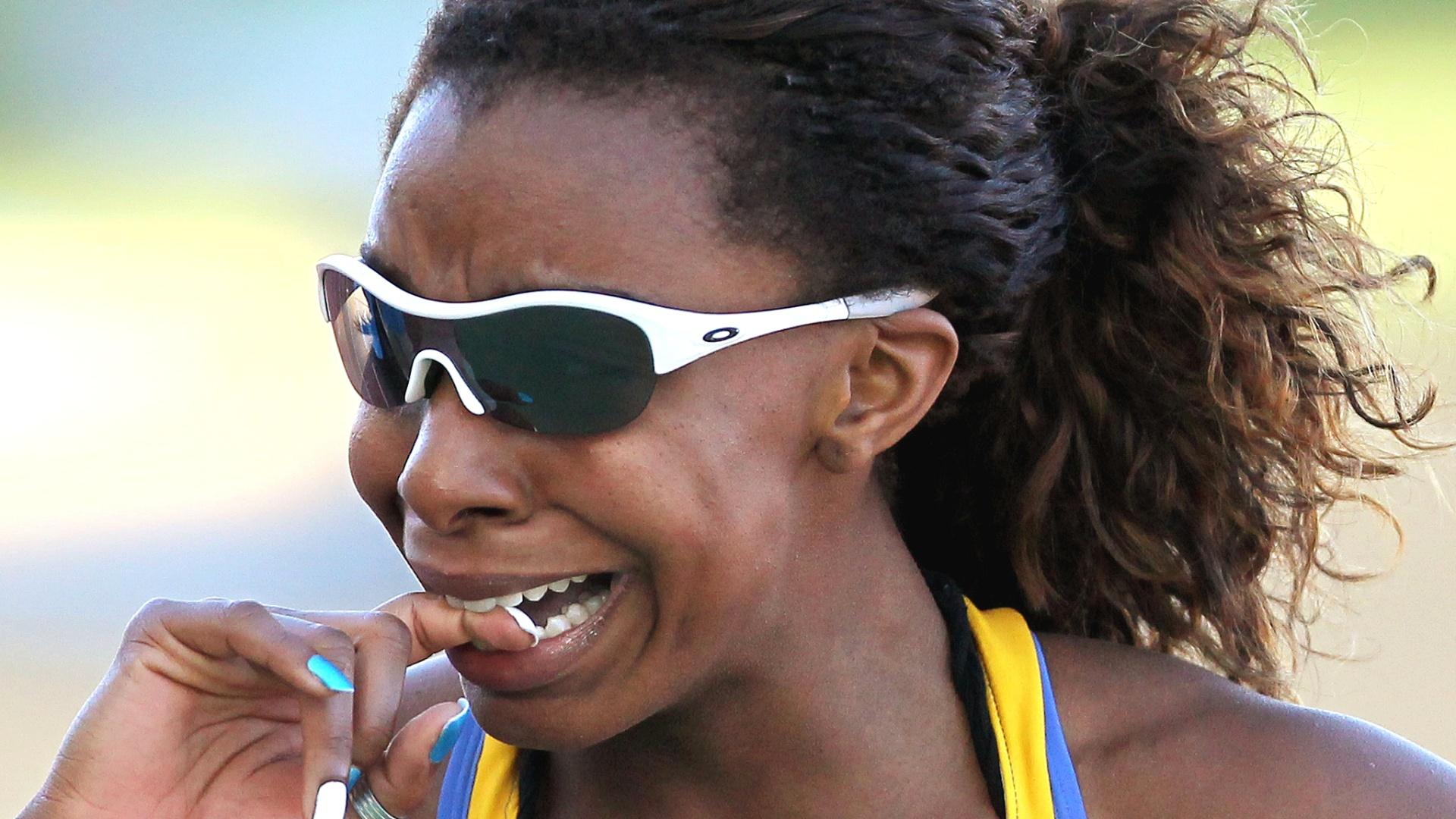 Brasileira Rosangela Santos conquista o ouro nos 100 m rasos para o Brasil no Pan (25/10/2011)