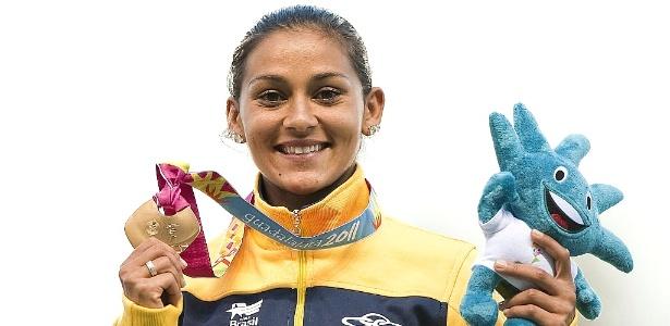 Ana Claudia Lemos foi a primeira atleta brasileira a ganhar os 200 m feminino no Pan