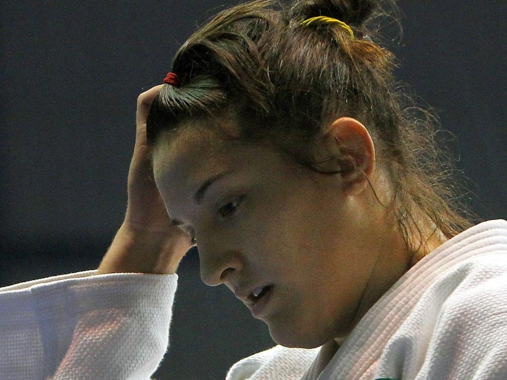 Mayra Aguiar perde nas quartas de final do Pan para a norte-americana Kayla Harrison, que também havia sido sua algoz no Mundial (27/10/2011)