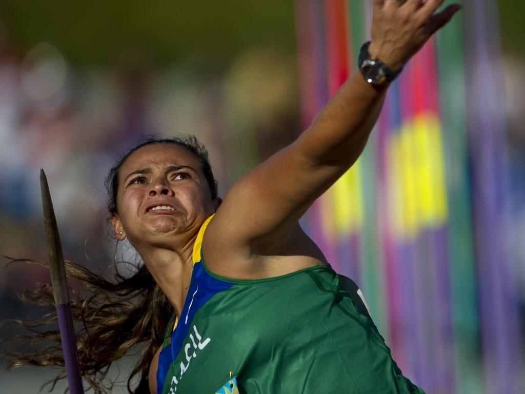 Brasileira Laila Silva compete no lançamento de dardo em Guadalajara