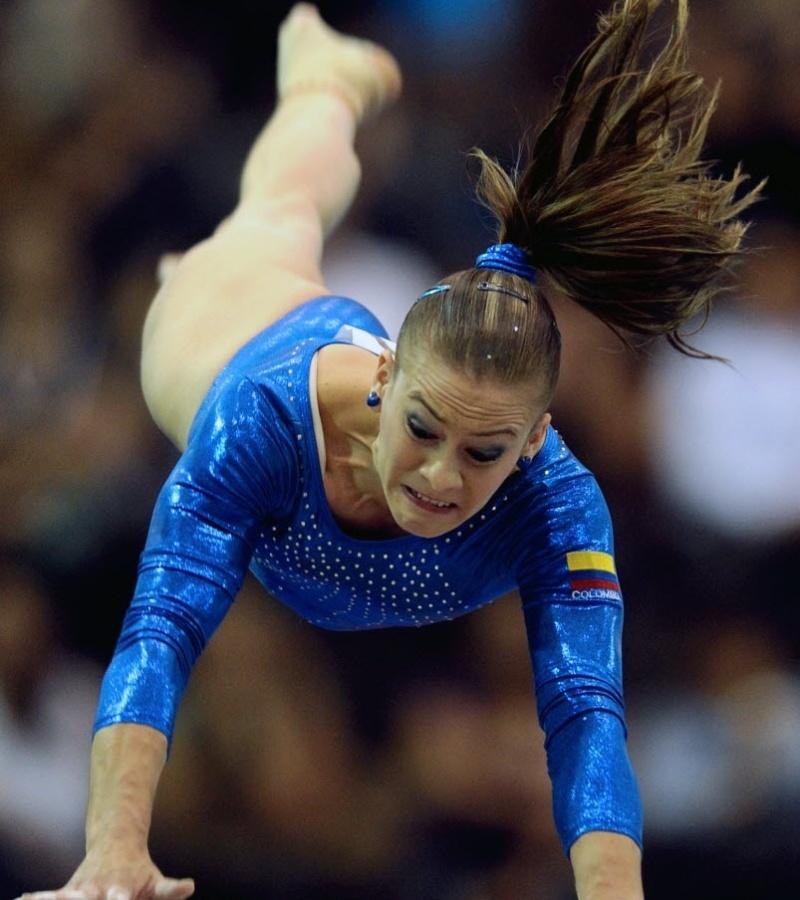 Colombiana Catalina Escobar ganhou medalha de bronze na ginástica artística do Pan