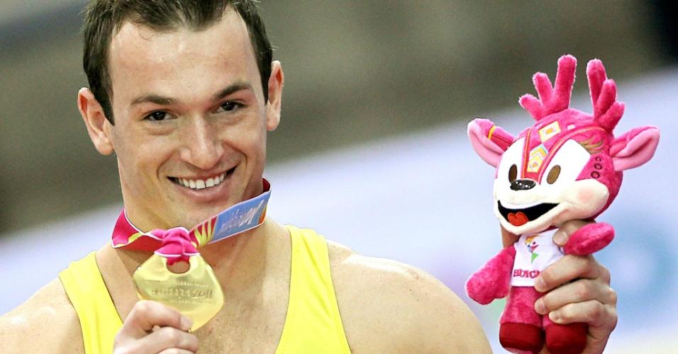 Diego Hypolito conquista a medalha de ouro no salto nas finais por aparelhos e encerra participação no Pan com 100% de aproveitamento