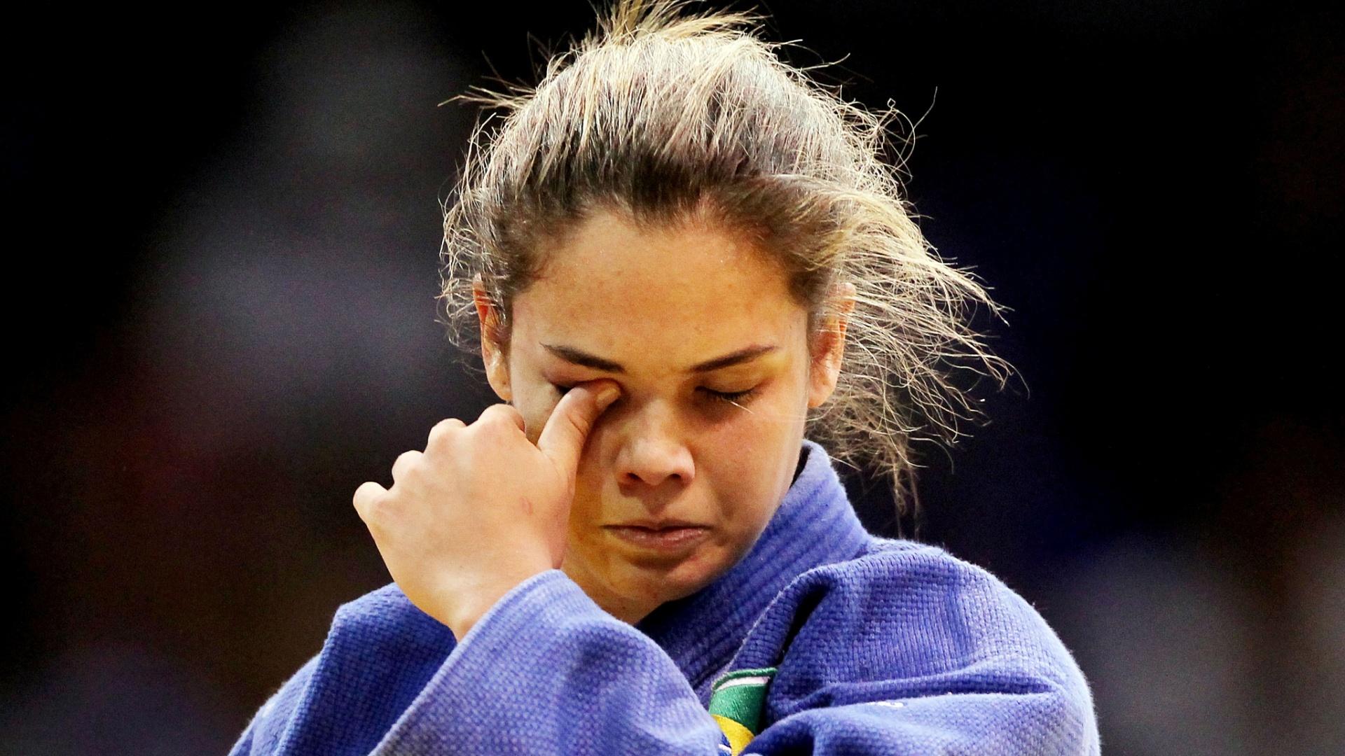 Katherine Campos lamenta após perder a disputa pela medalha de bronze no Pan de Guadalajara (28/10/2011)