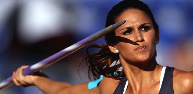 Musa paraguaia Leryn Franco realiza lançamento na prova do dardo, durante o Pan