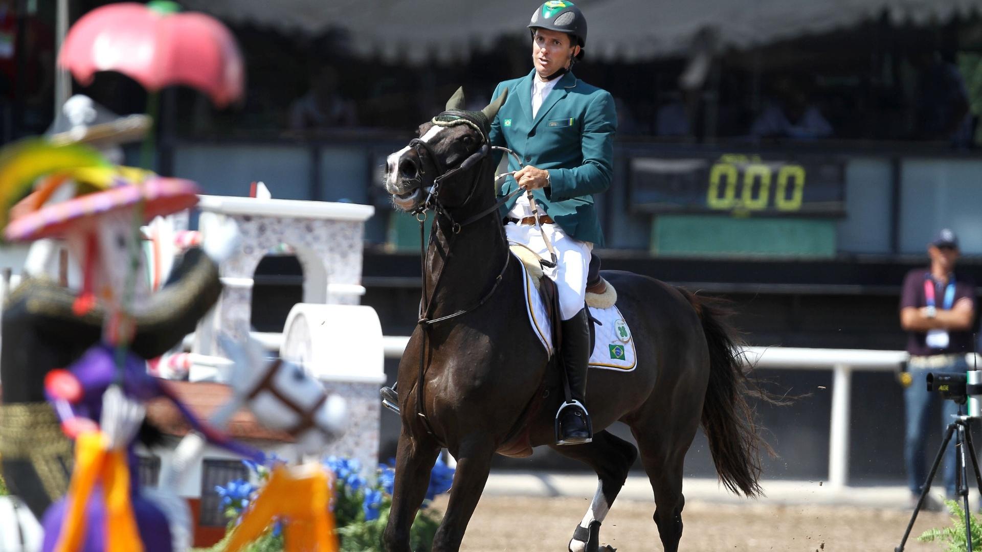 Bernardo Alves terminou a primeira passagem nos saltos individuais em 4º lugar no Pan de Guadalajara