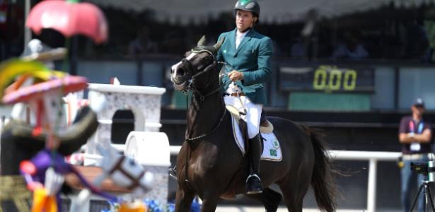 """Bernardo Alves se refere à égua Bridgit quase como uma pessoa: """"ela é a grande atleta"""""""