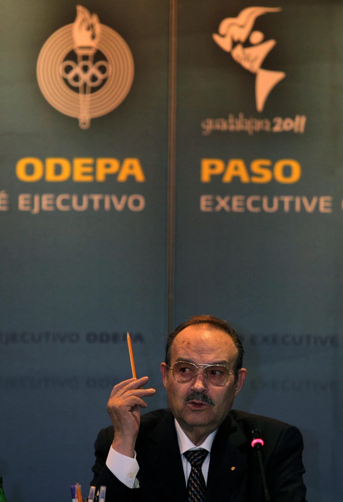 Mario Vazques Raña, presidente da Organização dos Jogos Pan-Americanos