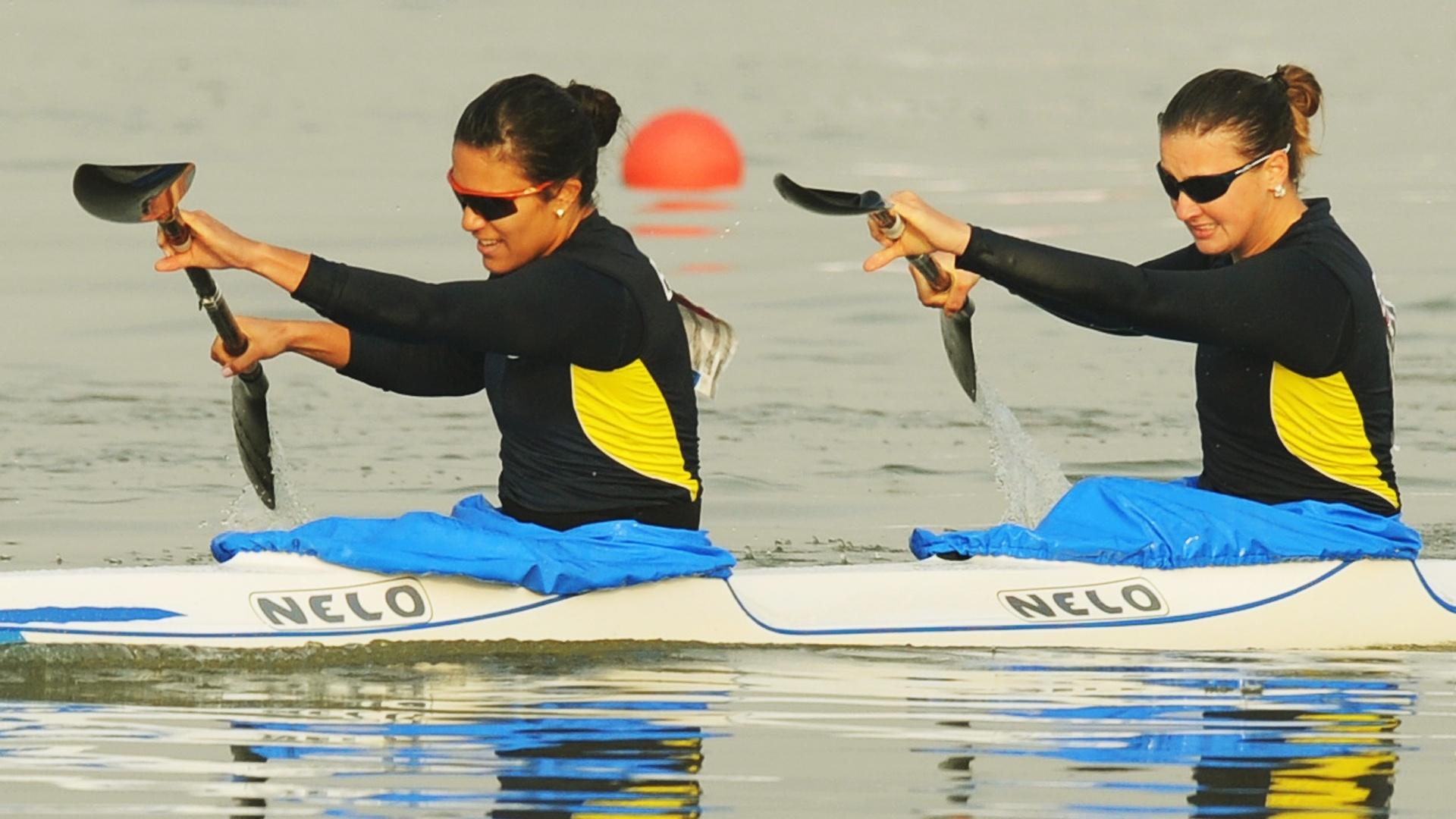 Naiane Pereira e Ana Paula Vergutz ficaram em 6º no K2 500 m (29/10/2011)