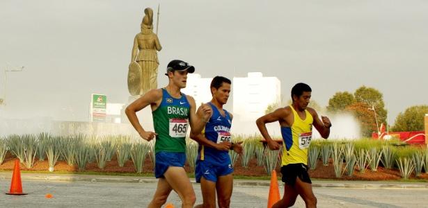 O brasileiro Jonathan Riekmann terminou na quinta colocação nos 50 km da marcha