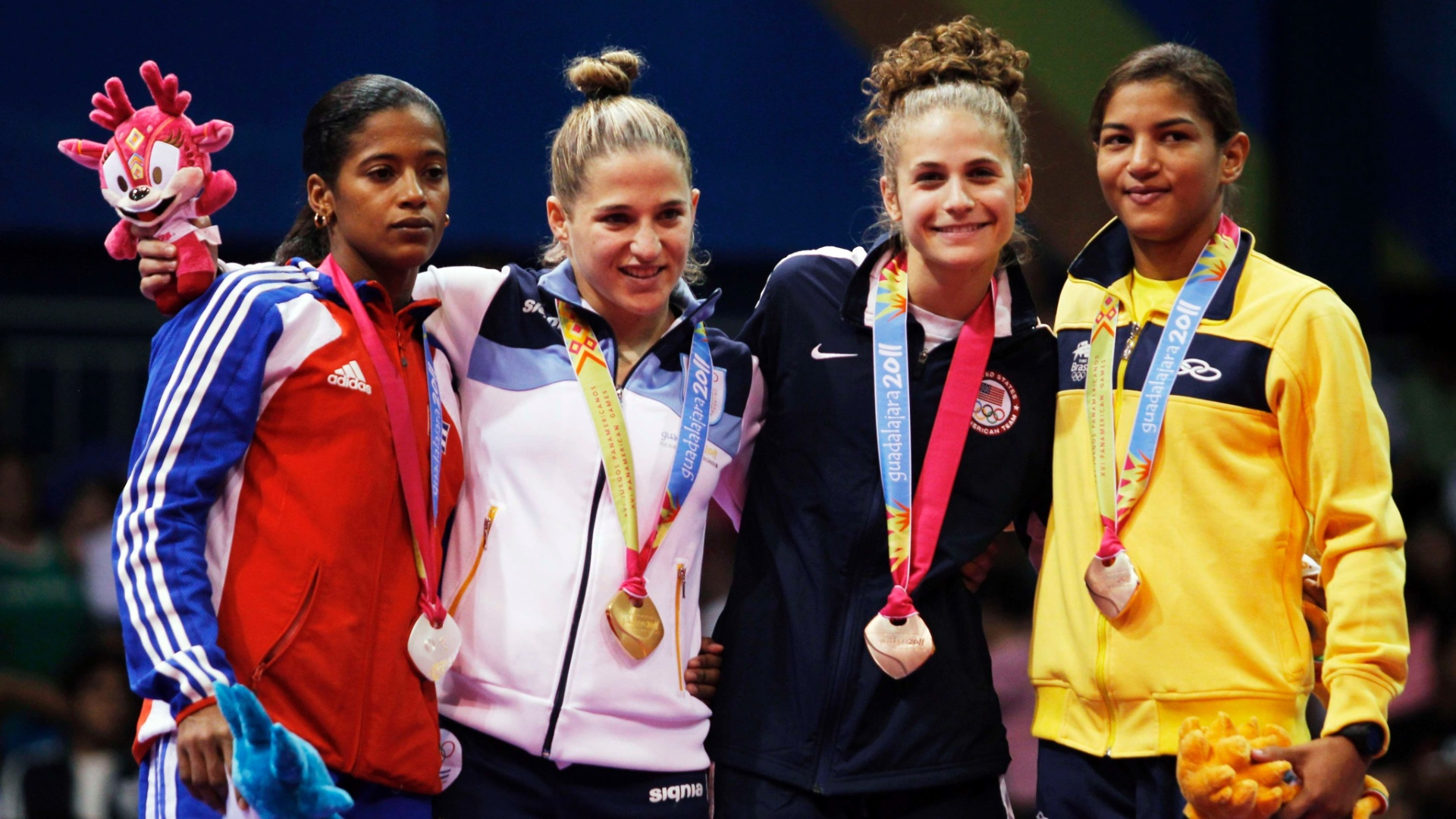 Sarah Menezes ganhou a medalha de bronze no judô, categoria até 48kg (29/10/2011)