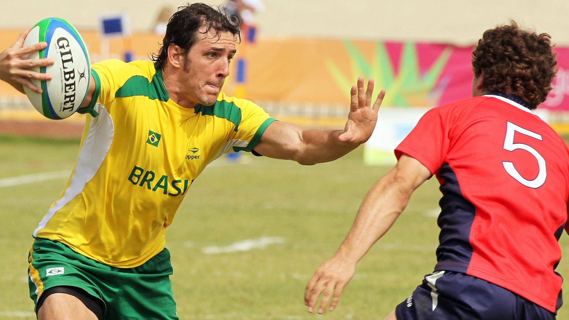 O Brasil terminou na sétima colocação no rúgbi nos Jogos Pan-Americanos de Guadalajara (30/10/2011)