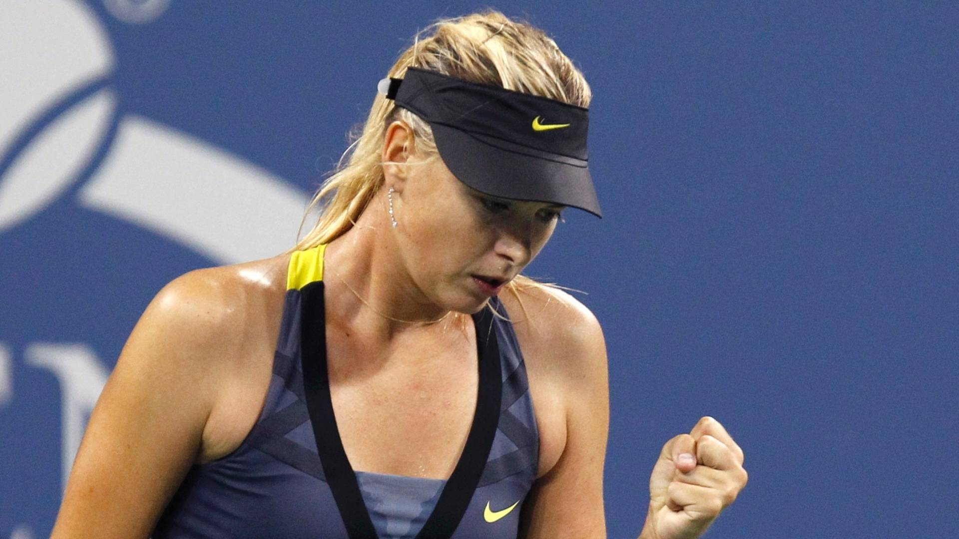 Maria Sharapova comemora atuação perfeita e vitória na segunda rodada do US Open (31/08/2011)