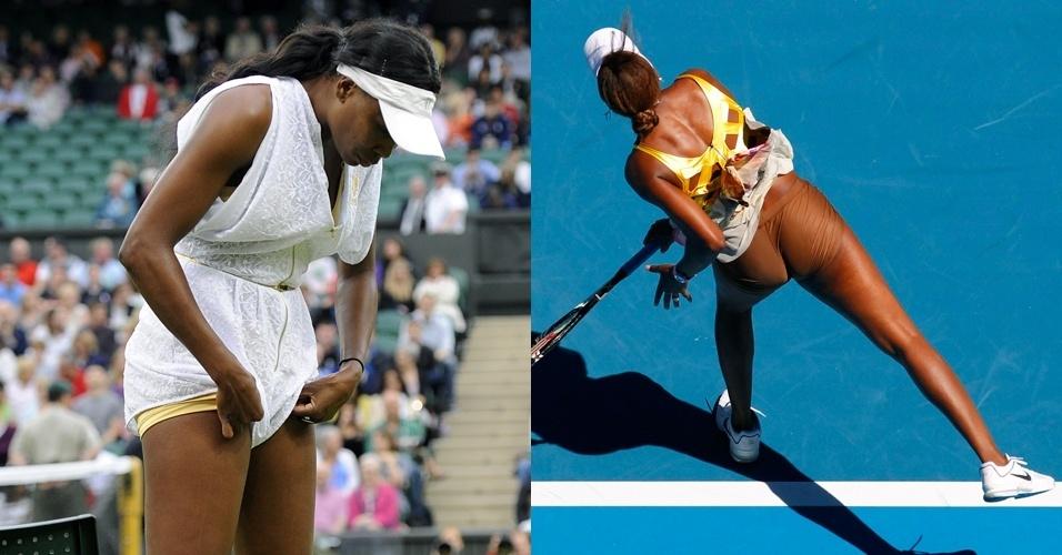 Com sua própria marca de roupas, em 2011 Venus Williams chamou mais atenção nos Grand Slams pelas vestimentas do que pelo tênis apresentado nas quadras