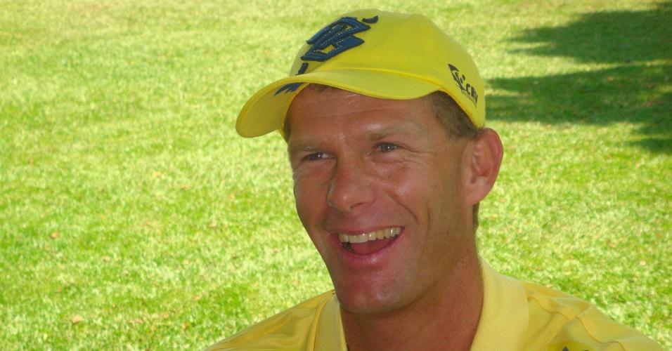 Robert Scheidt, velejador brasileiro, em entrevista em São Paulo (01/02/2012)