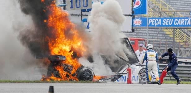 Carro de Tuka Rocha pega fogo: alerta sobre rapidez das chamas já havia sido feito -  Marcos Velloso/Photocamera