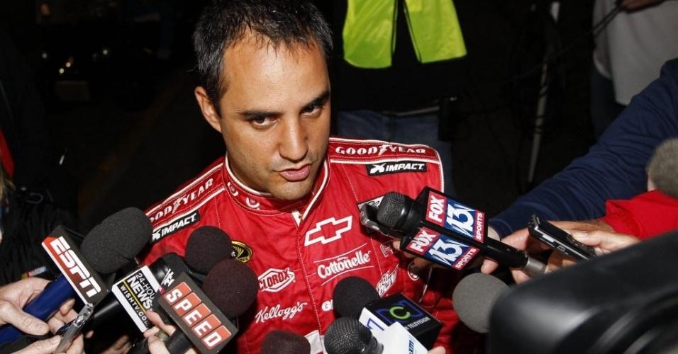 Montoya bateu o carro em caminhão que fazia a secagem da pista durante a disputa das 500 Milhas de Daytona da Nascar. Após o acidente, o piloto colombiano conversou com a imprensa e revelou que perdeu o controle do carro