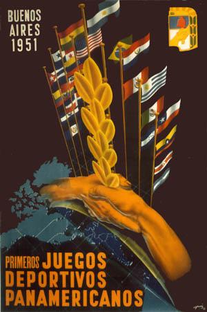 Pôster do Pan de 1951, Buenos Aires