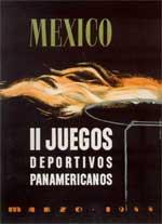 Pôster do Pan de 1955, Cidade do México